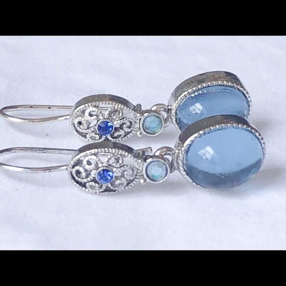 bf1af1a1af7b3 Avon SP Blue Rhinestone Boho Dangle Earrings